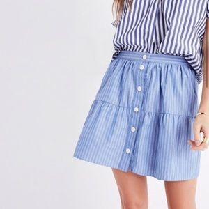NWOT Madewell Bistro Mini Skirt in Stripe